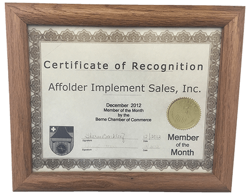 Affolder Equipment Award